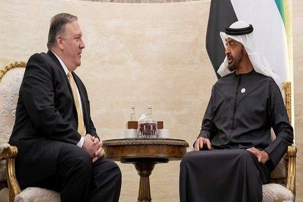 رایزنی «پمپئو» و ولی عهد ابوظبی درباره تحولات منطقه و جهان