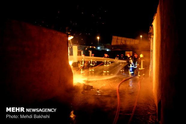 حرق في ورشة شحن اسطوانات الغاز السائل في مدينة قم