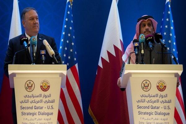 وزیران خارجه آمریکا و قطر دیدار کردند