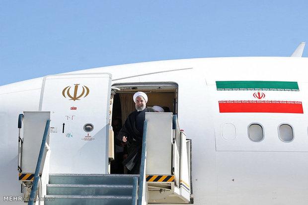 روحانی گرگان را به مقصد تهران ترک کرد