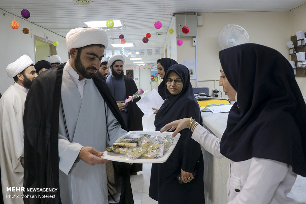 Clerics visit nurses in Birjand on 'Nurse Day'