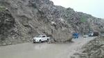 ریزش کوه در محور سوادکوه