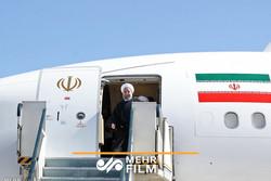 استقبال رسمی از روحانی در گلستان