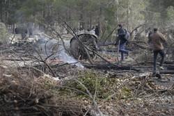 اعزام سه اکیپ آتشنشانی به محل حادثه سقوط هواپیما در کرج