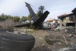 İran'daki uçak kazasından kareler