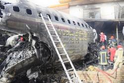 """مشاهد من حادث تحطم طائرة """"بوينغ 707"""" في غرب طهران-2 / صور"""