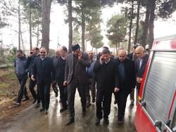 استاندار البرز در محل سقوط هواپیمای باری حضور یافت