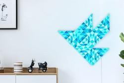 موزائیک دیواری که با موبایل تغییر شکل و رنگ می دهند