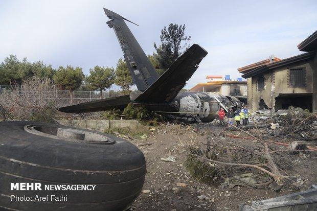 Fatal plane crash at Fath Airport in Karaj