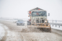 Plowing snow from roads of East Azerbaijan province