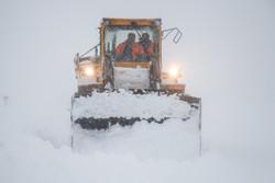 بارش برف در محورهای شمال و شمال غرب فارس آغاز شده است