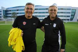 دیدار برانکو و کرانچار در قطر/ سرمربی پرسپولیس تماشاگر بازی امید