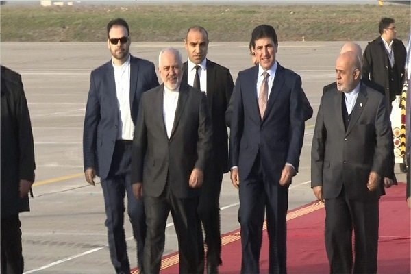 Zarif arrives in Iraqi Kurdistan Region