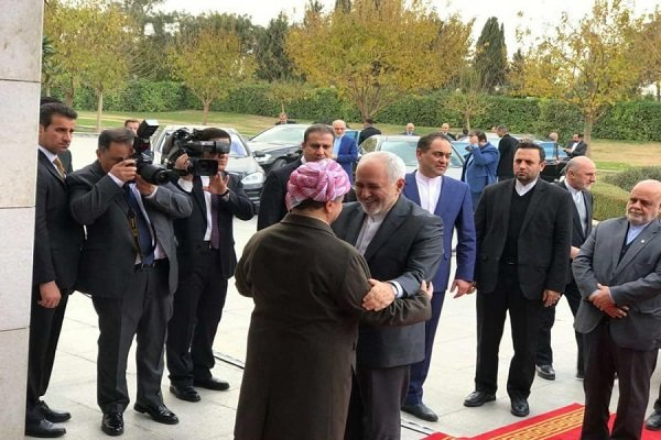 zarif meets with Barzanis on bilateral ties