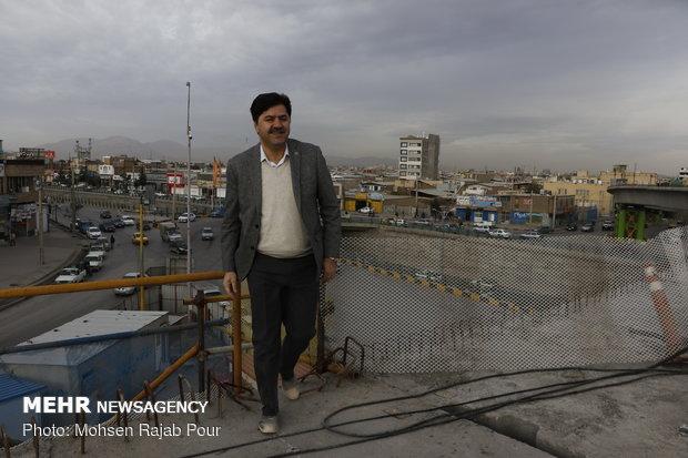 بازدید سید مهران عالم زاده شهردار کرمان از پروژه های شهری