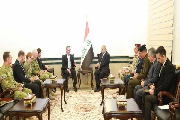 رایزنی عبدالمهدی با وزیر دفاع استرالیا در بغداد