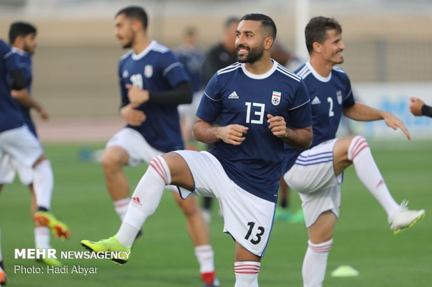 Team Melli's last training session before taking on Iraq