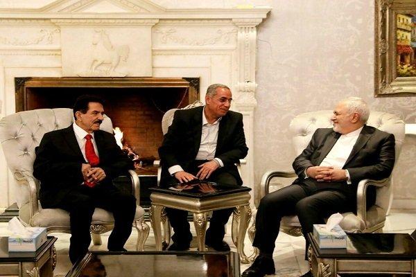 ظريف يجري جولة من المباحثات مع امين عام الاتحاد الوطني الكردستاني العراقي