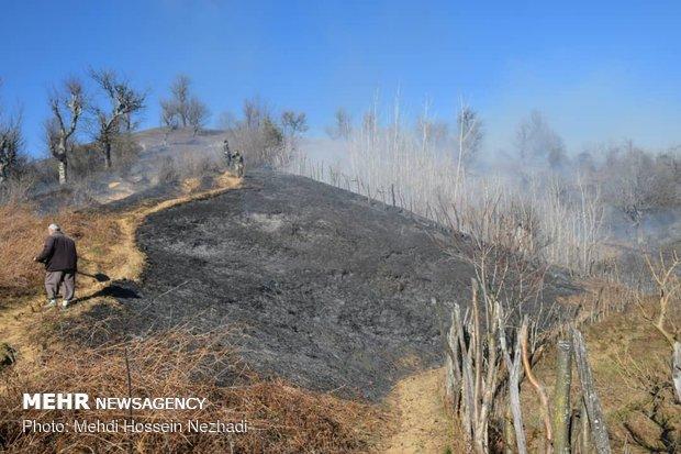آتش سوزی اراضی ملی شهرستان مرزی آستارا