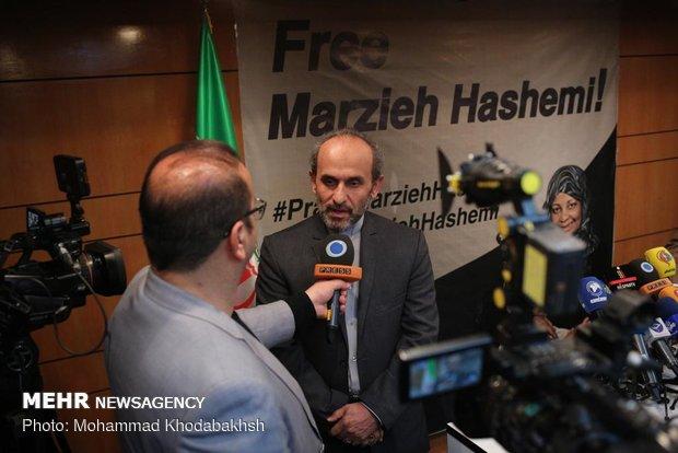 Press TV head talks to media on Marzieh Hashemi's detention