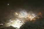 بارش برف زمستانی در شهرک تاریخی ماسوله
