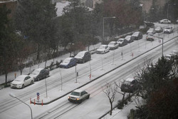 Hailstorm, snow hit Tehran