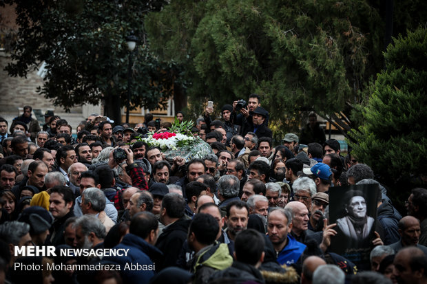 Funeral ceremony of actor Hossein Moheb Ahari