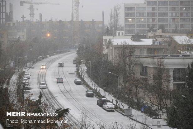 Heavy hail, snow hit Tehran