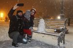 Tebriz'de kar yağışı