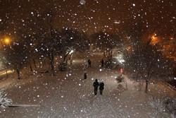 بارش اولین برف زمستانی در شهر اصفهان