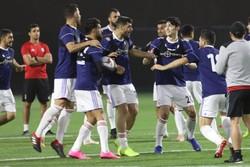 تمرین تیم ملی فوتبال ایران در ابوظبی
