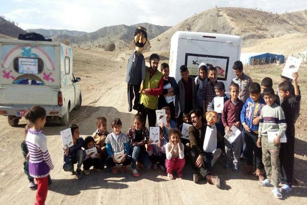 کتابخانههای سیار کانون پرورش فکری به روستاهای کرمانشاه میروند