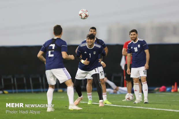 Team Melli training session in Abu Dhabi