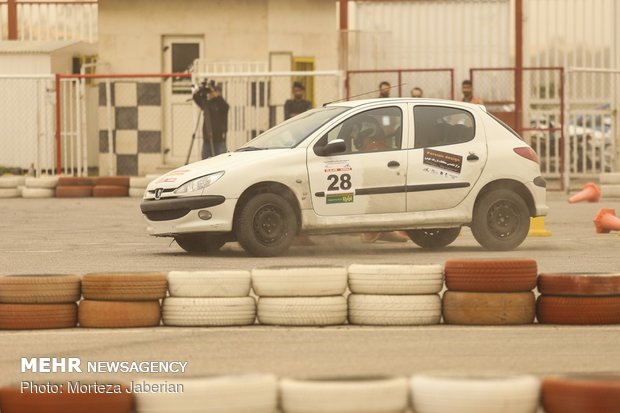 Auto Slalom competitions in Ahvaz