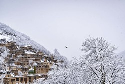 Masuleh covered in snow