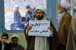 تجمع طلاب در درس خارج آیت الله نوری همدانی در اعتراض به FATF