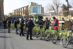 مدیران شهری جنوب تهران مسیر ۶ کیلومتری را رکاب زدند