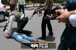 لحظه دستگیری گروگانگیر در رشت