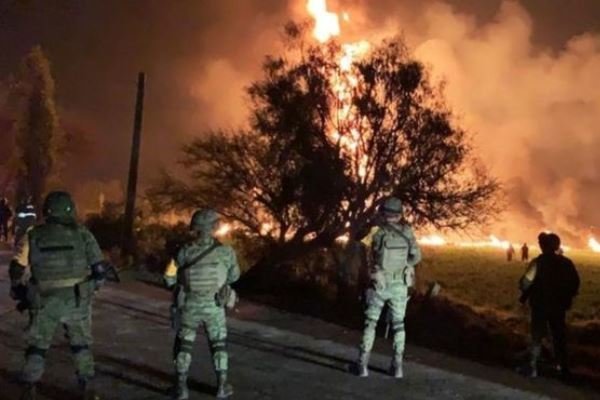 VIDEO: Huge pipeline explosion in central Mexico