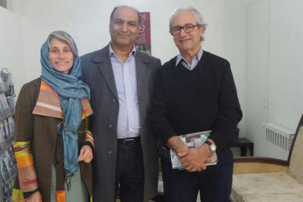 نمایندگان انستیتو هنر درمانی پاریس در مرکز نمایش درمانی ایران