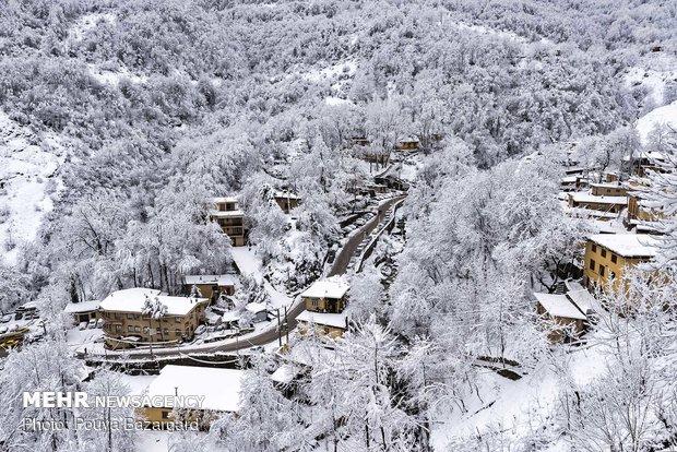 Masuleh covered in snow