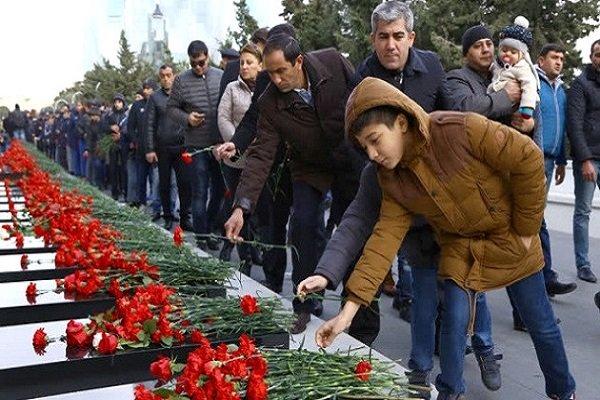 Azerbaycan'da '20 Ocak Olayları' kurbanları anılıyor