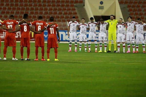 مباراة تجمع بين المنتخب الإيراني ونظيره العماني في إطار مباريات دور الـ16