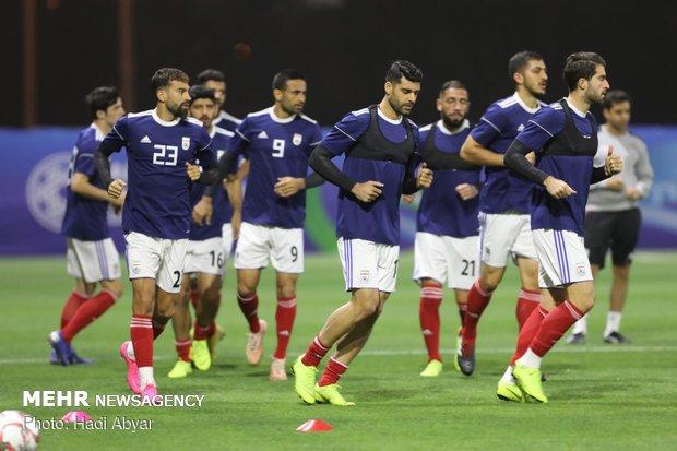 Team Melli's last training session before taking on Oman