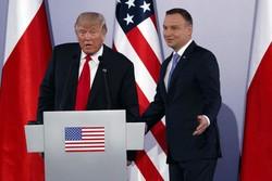 Poland's President Andrzej Duda and U.S President Donald Trump a