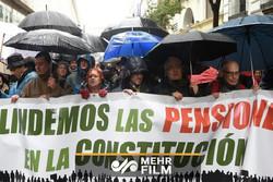 تظاهرات بازنشستههای اسپانیا برای افزایش حقوق