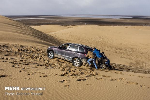 Maranjab Desert in heart of Iran