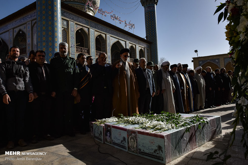 Funeral of three Sacred Defense martyrs in Shriaz