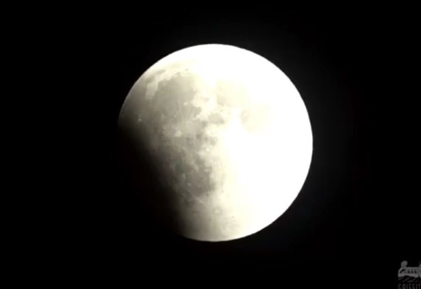 VIDEO: rare lunar eclipse in northern hemisphere skies