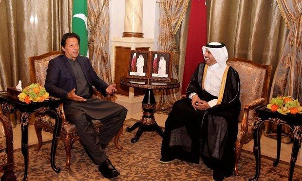 دیدار نخست وزیر پاکستان با همتای قطری اش در دوحه